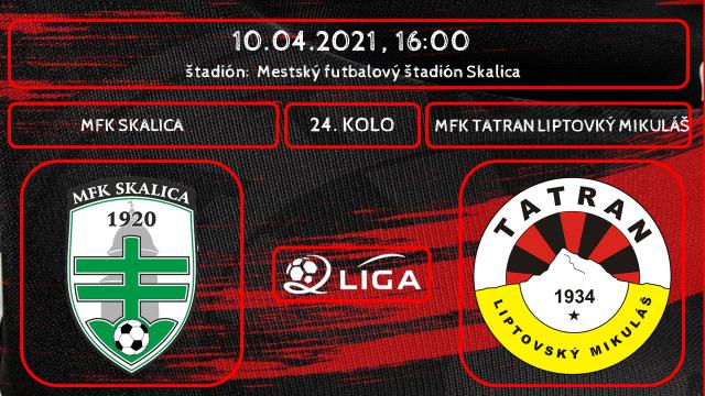 Priamy prenos zo zápasu MFK Tatran - MFK Skalica môžte sledovať online