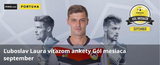 Ľuboslav Laura víťazom ankety Gól mesiaca september